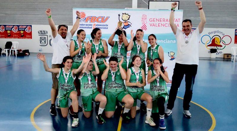 Las chicas del Infantil A del CB Jorge Juan Campeonas de la Comunidad Valenciana