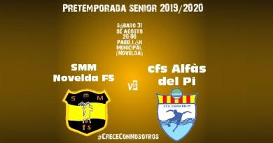 El SMM Novelda F.S. Senior se enfrentará este sábado al CFS Alfaç del Pi en su primer partido de pretemporada