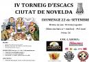 El 22 de septiembre se celebrará el IV Torneig d'Escacs Ciutat de Novelda organizado por el Club Escacs Novelda