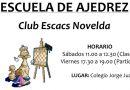 Mañana sábado dará comienzo la Escuela de Ajedrez del Club Escacs Novelda para este Curso Académico 2019/20 .