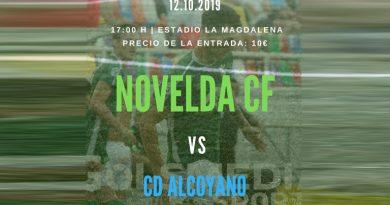 El Novelda CF intentará prolongar su buena dinámica el próximo domingo frente al líder, el CD Alcoyano
