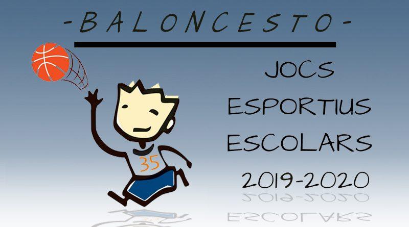 Horarios Jornada 2 Baloncesto Jocs Esportius Municipals de Novelda 2019-2020