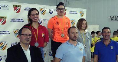 María Candela consigue medalla de Oro en el Campeonato Autonomico Absoluto de Natacion con Aletas