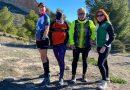 Cuatro atletas de diferentes clubs noveldenses se unen para finalizar el año realizando una subida a la Sierra del Cid