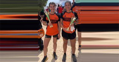 Lidia Quiles y Rebeca Pacheco del Club Atletismo Cableworld podiums en el XI Serra Grossa Trail 2.021 de Alicante