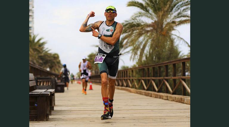 David del Rey del Club Atlético Novelda Carmencita Subcampeón Autonómico de Ironman